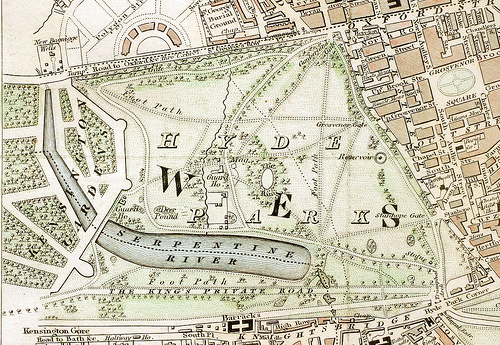 Map of Hyde Park 1833